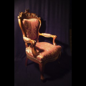 Mahogany chair 19th century - inches 45 x 27w x 27