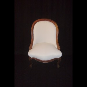 Mahogany low chair 19th century - restored - inches 32 x 22w x 22 seat 13