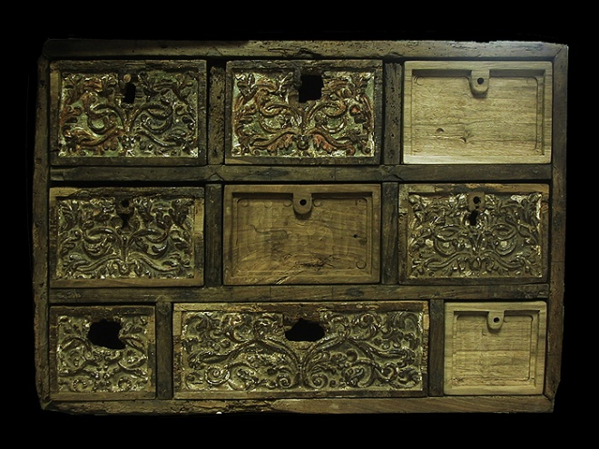 16th Century Cabinet before restoration