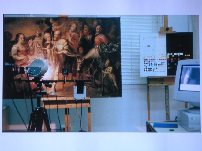16th century Oil painting on Canvas X-ray analysis