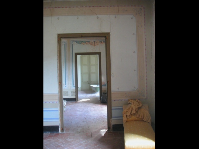 19th Century Living Space before restoration.