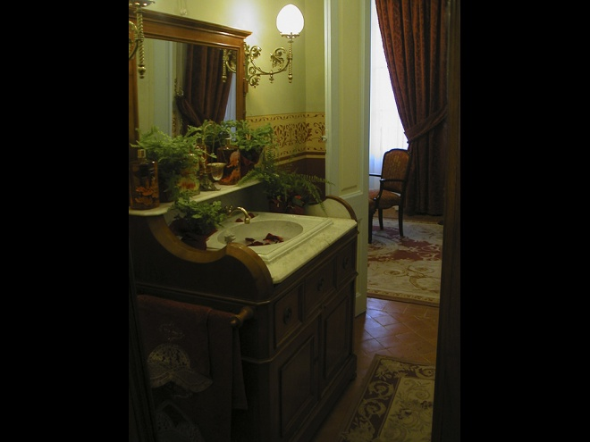 Bathroom with original antiques.