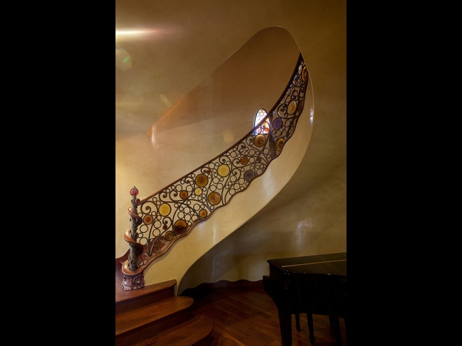 Railing, baseboard, stairs shape designs, floors and finishes.